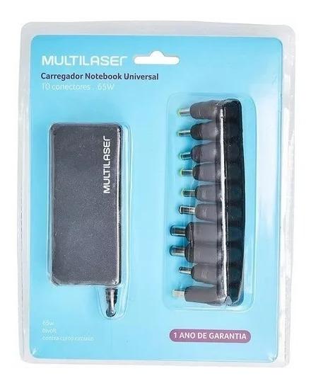 Carregador Notebook Universal 10 Conectores 65w Multilaser