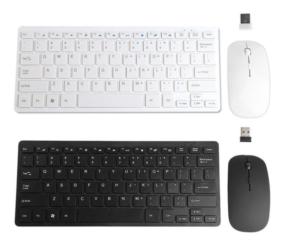 Kit Mouse Teclado Sem Fio 2.4 Ghz Keyboard Wireless Promoção