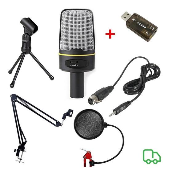 Microfone Sf920 + Braço Articulado + Popfilter+ Tripé+brinde