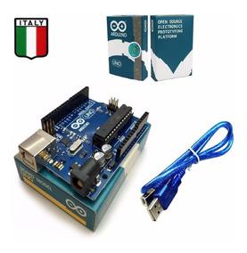 Arduino Uno R3 Italiano Original Com Cabo Usb E Caixa