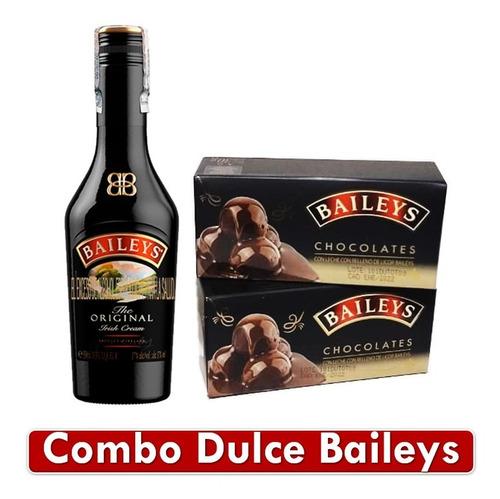 Combo Regalo Baileys Licor Crema De Whisky Y Chocolates