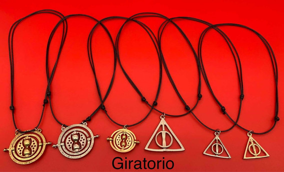 Colar Cordão Harry Potter Pingente Giratorio Rs 21,99