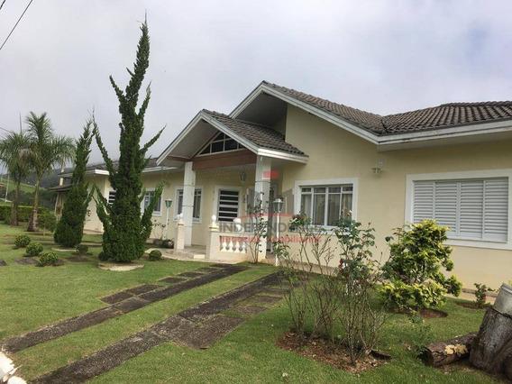 Linda Casa Com 5 Dormitórios À Venda, 290 M² Por R$ 850.000 - Village Parahybuna - Paraibuna/sp - Ca0683