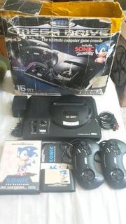Sega Genesis/ Mega Drive Pal-g,caja,2 Controles,cables,juego