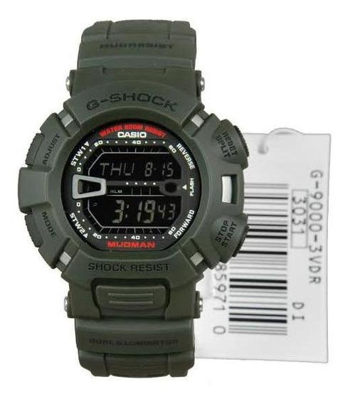 Relógio Casio G-shock G-9000-3 Gshock G9000 Verde Novo Na Cx