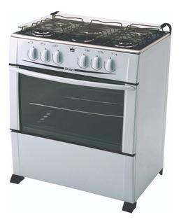 Cocina Super Gas 5 Hornallas Mesada Inox Confort Del Hogar
