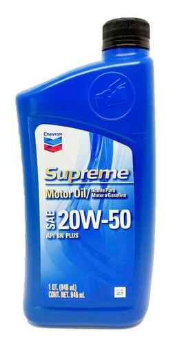 Aceite 20w50 Mineral Chevron Supreme Americano 2 Litros