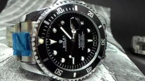 Relógio Submariner Masculino Preto Azul Pronta Entrega