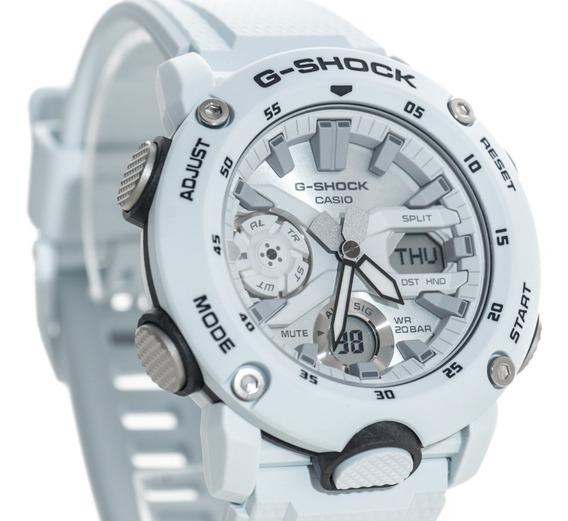 Relógio G-shock Ga 2000s 7a Branco Ga 2000 Carbono Lançament