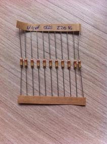 10 Resistores De Precisão 5% - 1/4w - 220k / Dip