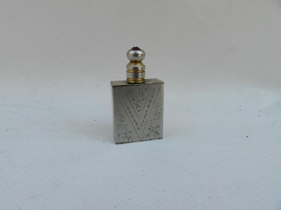 Antiguo Perfumero De Dama Cartera Baile Metal Aps