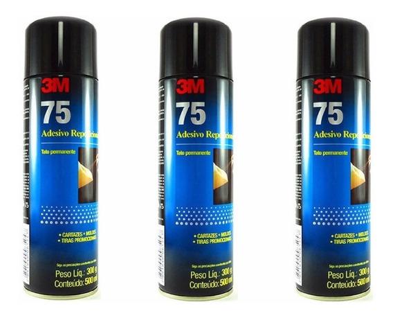 Kit 3 Adesivo Cola Spray 75 3m 500ml Reposicionavel Original