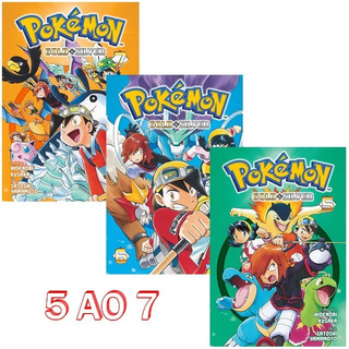 Pokémon Gold & Silver 5 Ao 7! Mangá Panini! Novo E Lacrado!