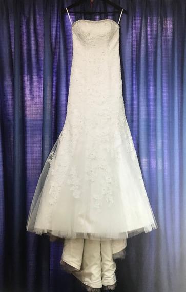 Hermoso Vestido De Novia (incluye Velo, Torera Y Zapatos)