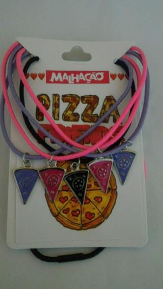 Colar Cordão Pizza 5 Partes Colorido Amizade Frete Gratis
