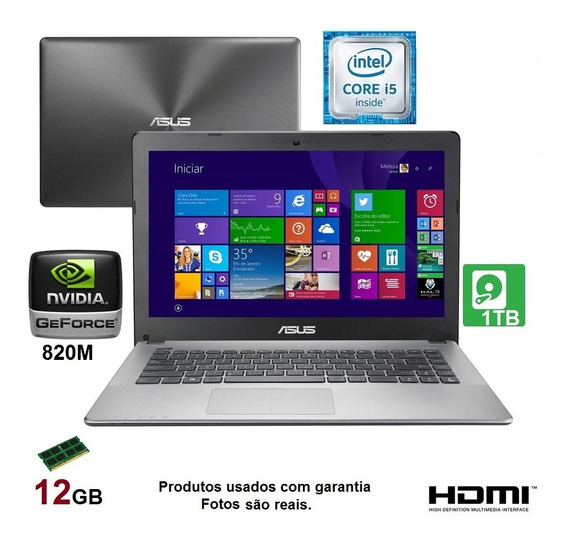 Notebook Gamer Asus I5 12gb /1t / Gforce 2gb E Garantia