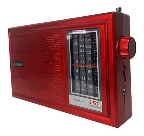 Radio Unisef Dual Usb Am Fm Sd R-924 Usb / Sd/ Mp3