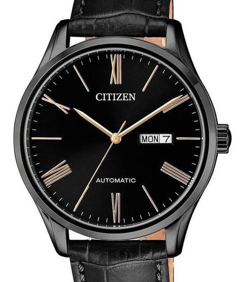 Relógio Citizen Masculino Automatico Couro Tz20939d