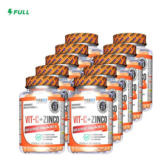 Kit Vitamina C 1000mg + Zinco 7mg - Profit Labs Atacado 10un