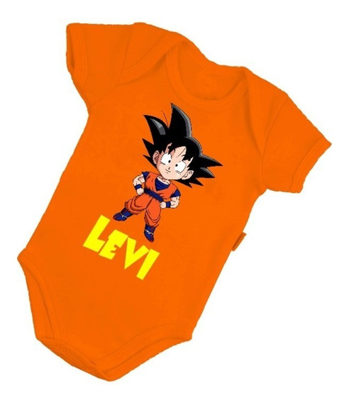 Body Bebê Infantil Goku Dragon Ball Personalizado B266lj