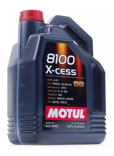 Imagen 1 de 8 de Aceite Sintetico 100% Motul 5w40 8100 5 Lts C/obsequio