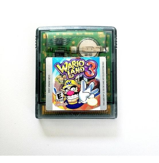 Wario Land 3 Game Boy Original Gameboy Color Gbc