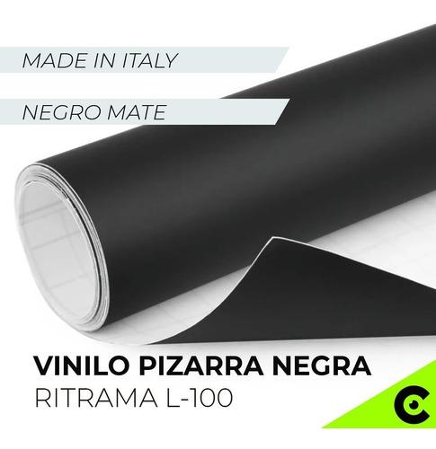 Vinilo Pizarra Pizarron Negro Mate Adhesivo 100x61cm Capta