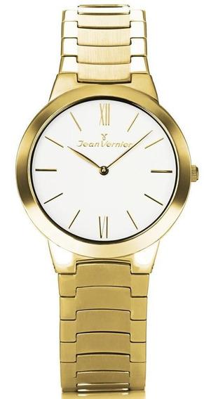 Relógio Jean Vernier Feminino Jv7685l Bracelete Mini Dourado