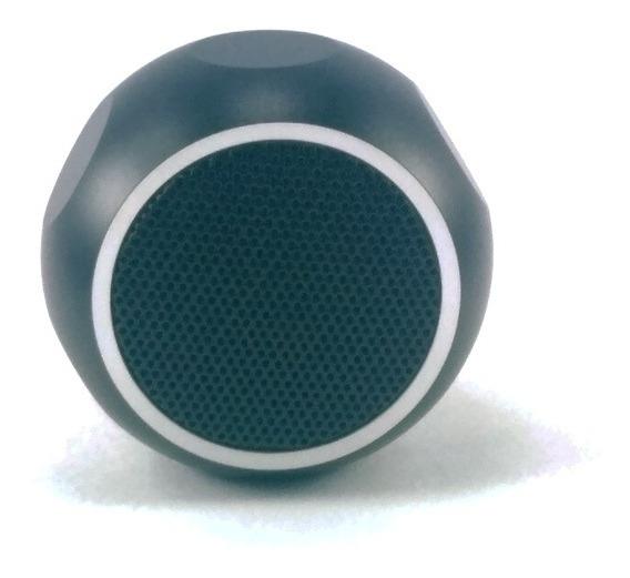 Mini Caixa De Som Bluetooth Atômica Hexagonal De Luxo