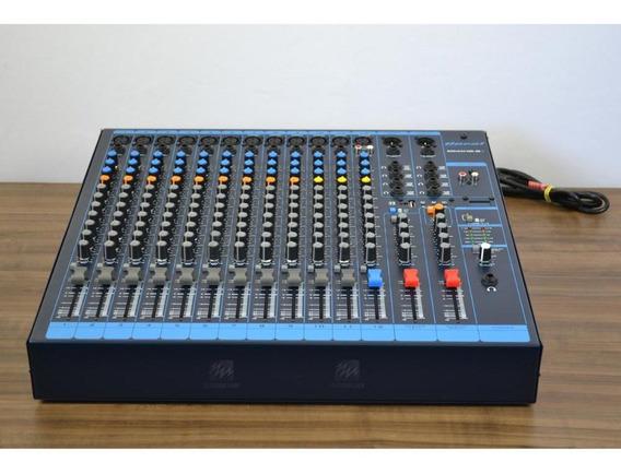 Mixer Mesa Som Oneal 12 Canais Xlr 8 Auxiliares Usb Omx12.8e