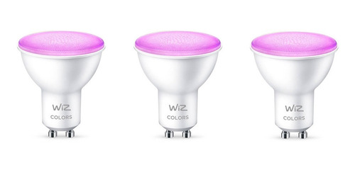 Ampolleta Led Wiz Wifi Color 9w Gu10 X3 Unidades