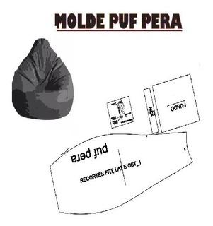 Kit Molde Puff Patrones Muebles Forma De Pera