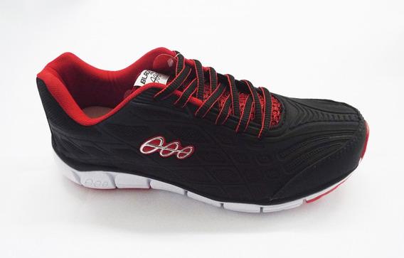 Tênis Masculino Black Free Ref.16300 Preto/vermelho