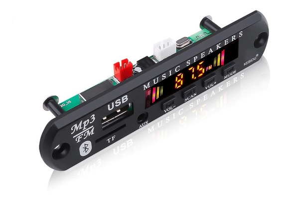Placa P/ Amplificador Usb, Fm, Pen Drive, Bluetooth, Aux In.