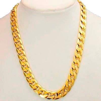 fdf6bf1f76fc Cadena Barbada De Oro Macizo 10k 65cm Pesa 100grs Solid Gold -   69