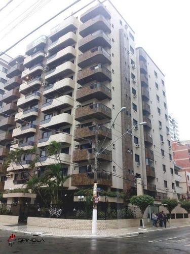 Apartamento Com 2 Dormitórios À Venda, 100 M² Por R$ 520.000,00 - Canto Do Forte - Praia Grande/sp - Ap3183