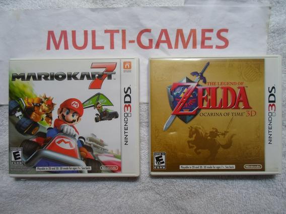 Mario Kart 7 + Zelda Ocarina Para Nintendo 3ds.