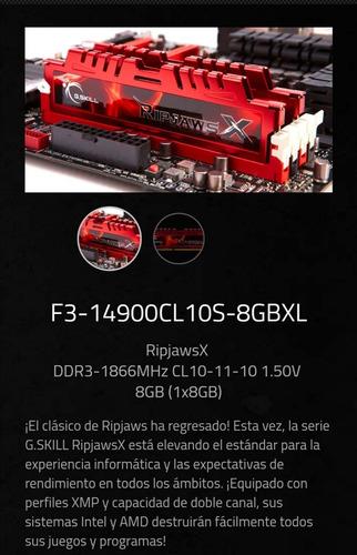 Memoria Ram G Skill Ripjawsx 16 Gb 2 X 8 Gb 240 Pin Ddr3