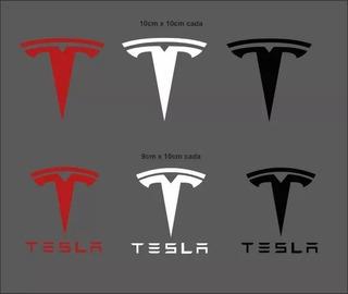 Adesivo Tesla Motors 5 Unidades Carro Elétrico Modelos