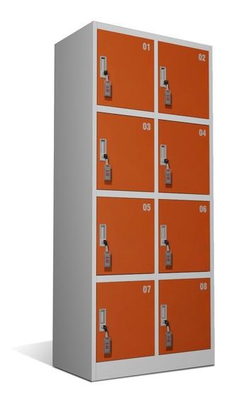 Guardabultos Lockers Metálicos De 8 Puertas