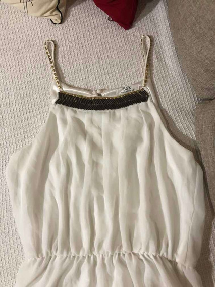 Vestido Largo Blanco Bsk Casualwear