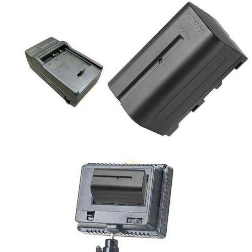 Kit Bateria Carregador P/ Iluminadores Led 300 F750  6200mh