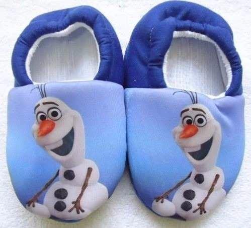 Pantufa Frozen Fever Anna Elsa Olaf * Sob Encomenda