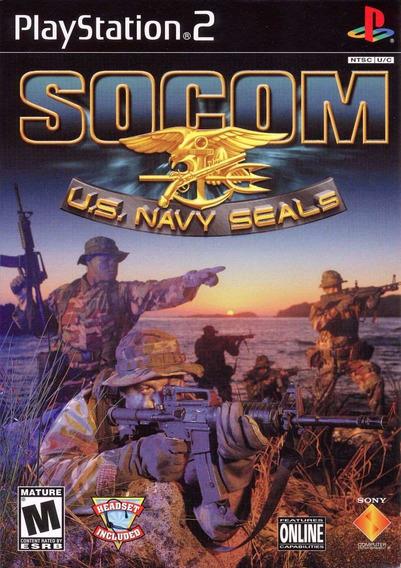 Jogo Socom Us Navy Seals Playstation 2 Ps2 Mídia Fís Lacrado