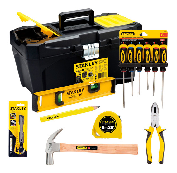 Set Tradesman Con Caja + 13 Hts Manuales Stanley Stst7203ch
