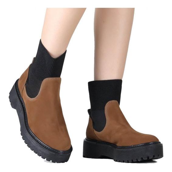 Bota Zariff Shoes Coturno Chelsea Flatform 7760-30105