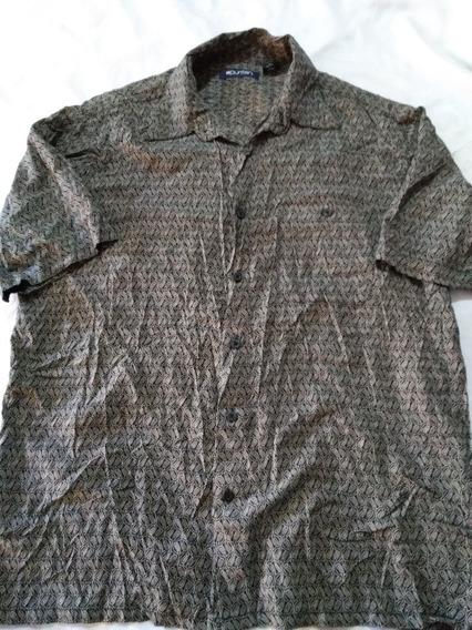 Camisa Puritan Talla M Viscose Rayon (hawaiiana,floreada,pla