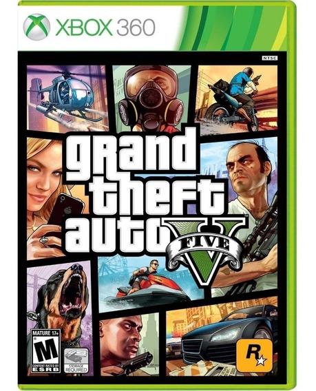 Gta 5 Grand Theft Auto V Xbox360 Mídia Física Novo Português