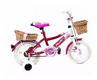Bicicleta Infantil Niña - Musetta Betty Blue - Rodado 12