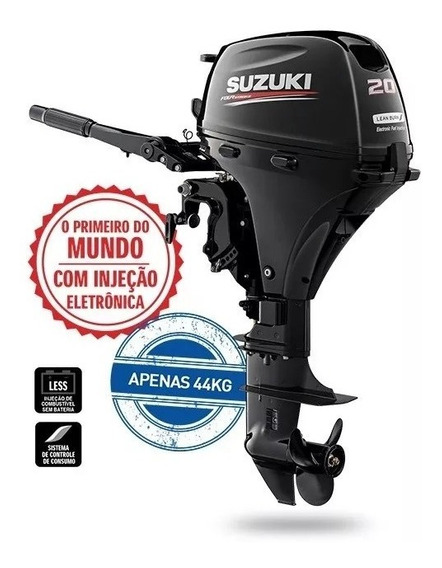 Motor Popa Suzuki Df20as 4t Entrada 6300,00 + 12x 991,66